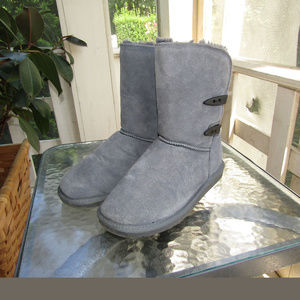 Womens Willowbee Grey Fur Lined Boots Warm and FUN